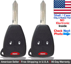 2x New Replacement Keyless Remote Oht692427aa For Chrysler Dodge Jeep Shell Only