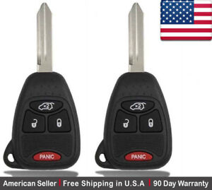 2x New Replacement Keyless Entry Remote Control Key Fob For Chrysler Dodge Jeep