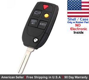1x New Replacement Keyless Remote Key Fob Case For Volvo Lqnp2t Apu Shell Only