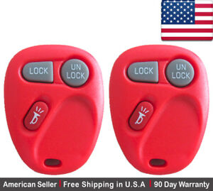 2x New Replacement Keyless Entry Remote Lhj011 Key Fob For Chevy Cadillac Gmc