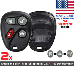 2x New Replacement Keyless Remote Key Fob For Chevy Cadillac Gmc Shell Case