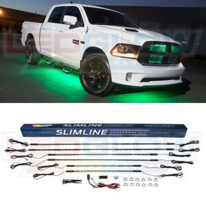 6pc Green Led Under Car Lights Truck Neon Lighting Kit