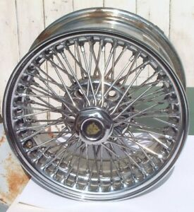 Jaguar Xjs Xj6 Chrome Dayton Wire Wheel Vintage 70 Spoke Design Mdl 6802 Nice 92