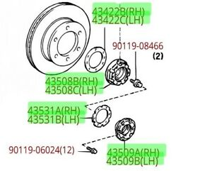 1995 Toyota Tacoma 4x4 Lock Out Hub Kit Set Genuine Oem Oe
