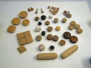 Mixed Lot Of Vintage Antique Replica Wood Cabinet Knobs Drawer Pulls