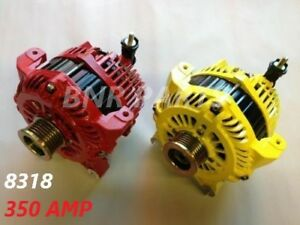 350 Amp 8318p Alternator Ford Lincoln High Output Performance Hd New Powder Coat