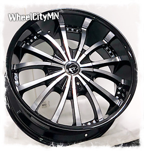 20 Inch Black Vct V63 Mancini Wheels Fits Dodge Charger Challenger Rwd 5x115 15