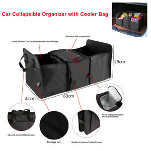 Car Trunk Organizer Cargo Suv Truck Storage For Groceries Folding Collapsible Us