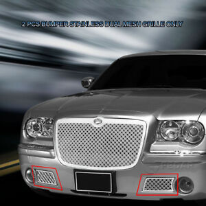 Front Mesh Grille Insert Stainless Steel Dual Weave For Chrysler 300c 2005 2010