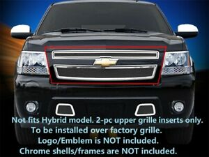 Main Upper Mesh Grille Fits Chevy Avalanche Suburban Tahoe 2007 2014