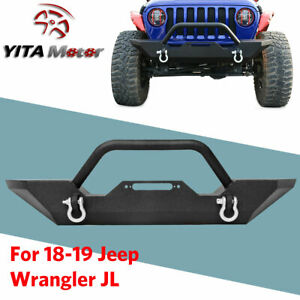 Front Bumper led Light Bar angel Eyes Halo Ring Fog Lights For Jeep Wrangler Jk