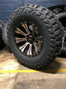 Helo He901 Ddt 17x9 Wheels Rims 33 Mxt Mt Tires Package 5x5 Jeep Wrangler Jk Jl