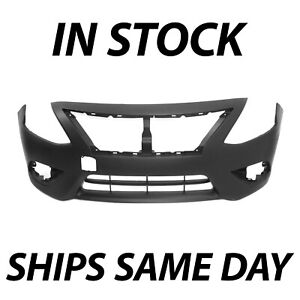 Brand New Primered Front Bumper Cover For 2015 2019 Nissan Versa Sedan 4 Door