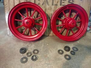 Antique Farmall F20 F 20 F30 Tractor F h Front Wheels 16 Inch French And Hecht
