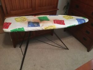 Antique Covered Wood Metal Ironing Board