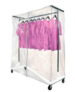 Only Hangers Commercial Z rack White Base Includes Cover Supports Clear Cover