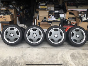 Amg 17 Monoblock Rims Powder Coated Gun Metal Tires Included Only W Local P U