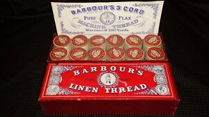 Barbours S Pure Flax Linen Thread 12 Spools Of Grey Thread No 25