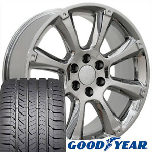 22 Oem Rims Tires Fit Cadillac Escalade Tahoe Yukon Chrome Wheels Gy Tires 5410