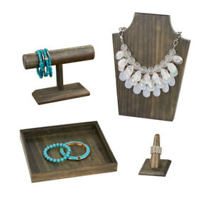 Wooden Jewelry Displays And Bundle 4 Displays Included