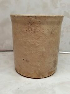 Old Stoneware Crock 5 Tall Barn Find Not Marked
