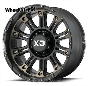 17 X9 Satin Black Dark Tint Kmc Xd829 Hoss Ii Wheels Chevy Silverado 6x5 5 12