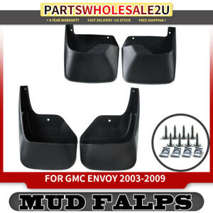 4x Front Rear Splash Guards Mud Flaps For Gmc Envoy 2002 2009 L6 4 2l Suv