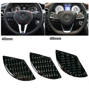 Real Carbon Fiber 49mm Steering Wheel Emblem Insert Filler Sticker Trim For Benz