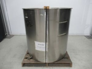 Tank Hopper Container Stainless Steel Cylinder Type 47 In Diametr used Tested