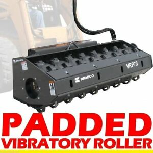 Vibratory Roller fits Skid Steer Loader 66 Padded Drum fits Bobcat