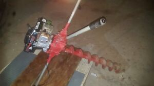 Post Hole Digger General M330 Honda Gas Powered Fence Borer Auger Earth Drill