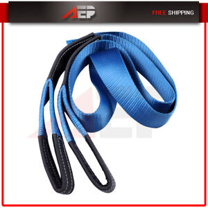 Heavy Duty Tow Winch Strap 3 X 10 Rope 4x4 Car Boat Trailer 26000lbs Us Stock