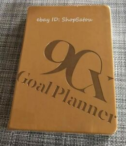 New Sealed 90x 90 Day Daily Weekly Monthly Goal Planner Gold