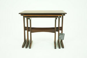 Danish Mid Century Modern Rosewood Nesting Tables 308 102 Reduced