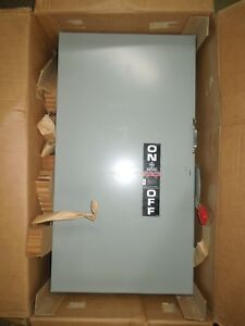 Ge Thn3365 Heavy Duty Safety Switch Non fused 400a 3p 600v Nema 1 Indoor Surplus