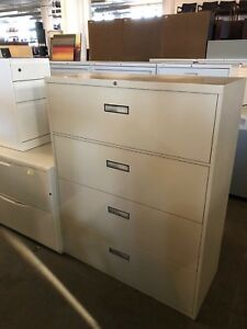 4 Drawer Lateral Size File Cabinet By Steelcase Office Furn 800 Series 42 w