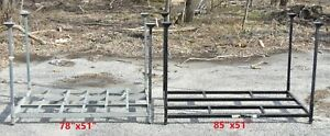 Stackable Steel Pallets 78 x51 85 x51 Steel Racks Metal Pallets With Posts