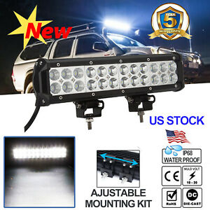 16inch 1296w Cree Led Light Bar Flood Spot Work Driving 3 Row Offroad 4wd Truck