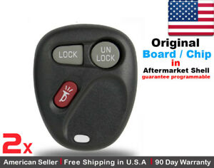2x Oem Replacement Keyless Remote Key Fob For Oldsmobile Gmc Chevy Kobut1bt