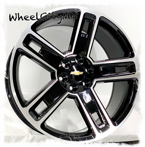 22 Inch Gloss Black Machine 2016 Chevy Tahoe Ltz Oe Replica Wheels 6x5 5 30