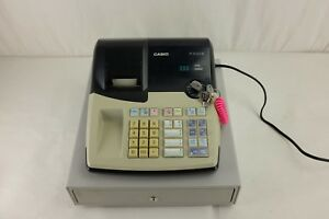 Casio Pcr 260b Electronic Cash Register With Keys Works Great