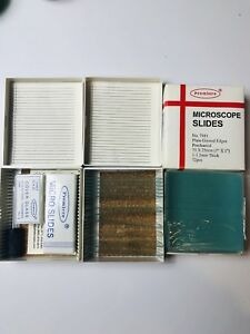 Premiere And Great Scopes Microscope Slides Storage Dropper Cover Glass Lot