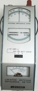 Leader Antenna Impedance Meter Model Lim 870a Vintage Somerstein Japan Rare