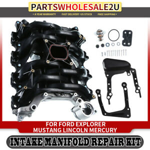 Intake Manifold W Thermostat Gaskets For Ford Lincoln Mercury V8 4 6l 615 175