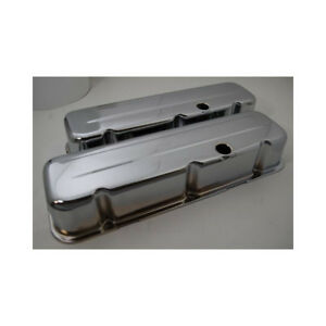 Rpc Engine Valve Cover Set R9235 Tall Chrome Steel For Chevy 396 454 502 Bbc