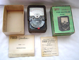 Rare Vintage Finco Greenline Vom Multitester Model 31201 With Box