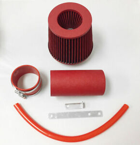 All Red Coated Air Intake System Kit For 1991 1995 Jeep Wrangler 2 5 4 0 S Se