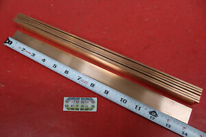7 Pieces 1 8 X 1 C110 Copper Bar 14 Long Solid Flat Mill Bus Bar Stock H02