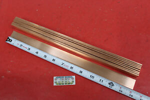 9 Pieces 1 8 X 1 C110 Copper Bar 14 Long Solid Flat Mill Bus Bar Stock H02