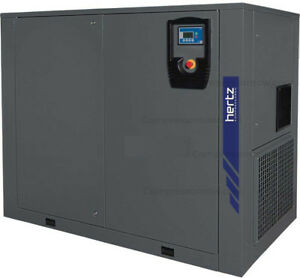 New Hertz 50 hp Base Mount Rotary Screw Air Compressor 3 phase 460 volt Hbd37